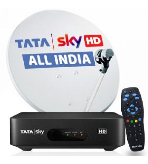 Tata Sky HD Set Top Box With 1 Month Odia Lite HD Pack Free