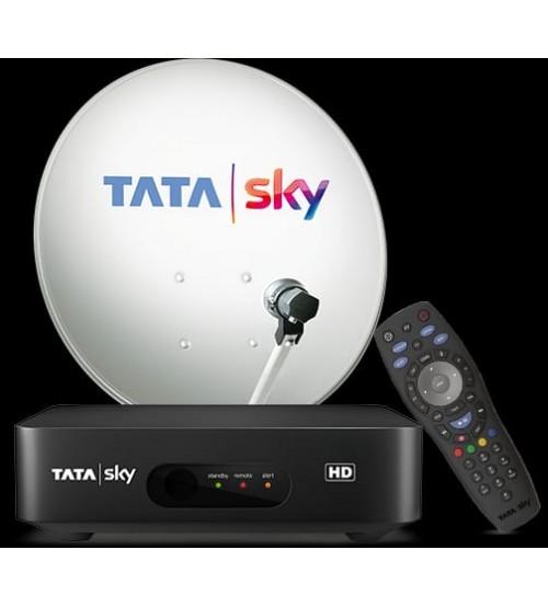 Tata Sky New HD Set Top Box With 1 Month Telgu Basic HD Pack