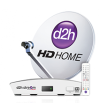 Videocon D2h HD  Set Top Box With 1 Month Gold Combo HD Pack