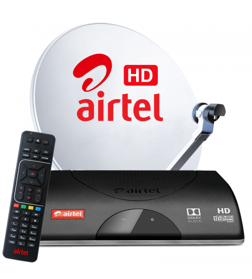 Airtel Dth New Connection  With 1 Month AP (Telgu)  Value Lite HD Pack