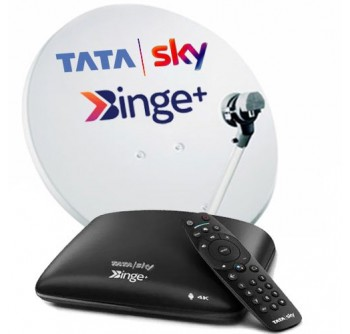 Tata Sky Binge Android Box 4K 1 Month Hindi Basic HD Package