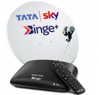 Tata Sky Binge Android Box 4K 1 Month Hindi Basic HD Package